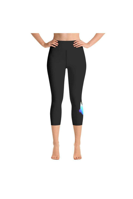 Asana Hawaii Yoga Capri Leggings XS Kona Manta Rays Yoga Capri Leggings