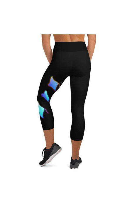 Asana Hawaii Yoga Capri Leggings Kona Manta Rays Yoga Capri Leggings