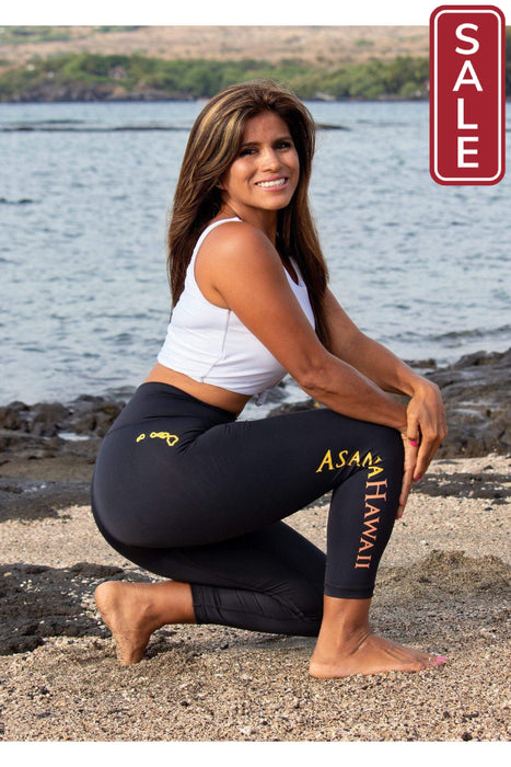 Asana Hawaii Capri Athletic Leggings Loko Wai Capri Athletic Leggings