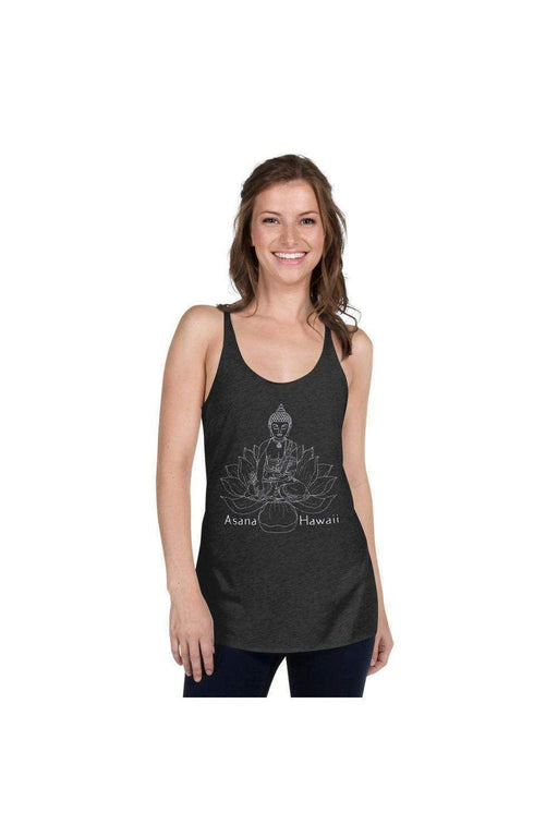 Asana Hawaii Women's Tank Top Vintage Black / XS Zen Lotus Women's Racerback Tank