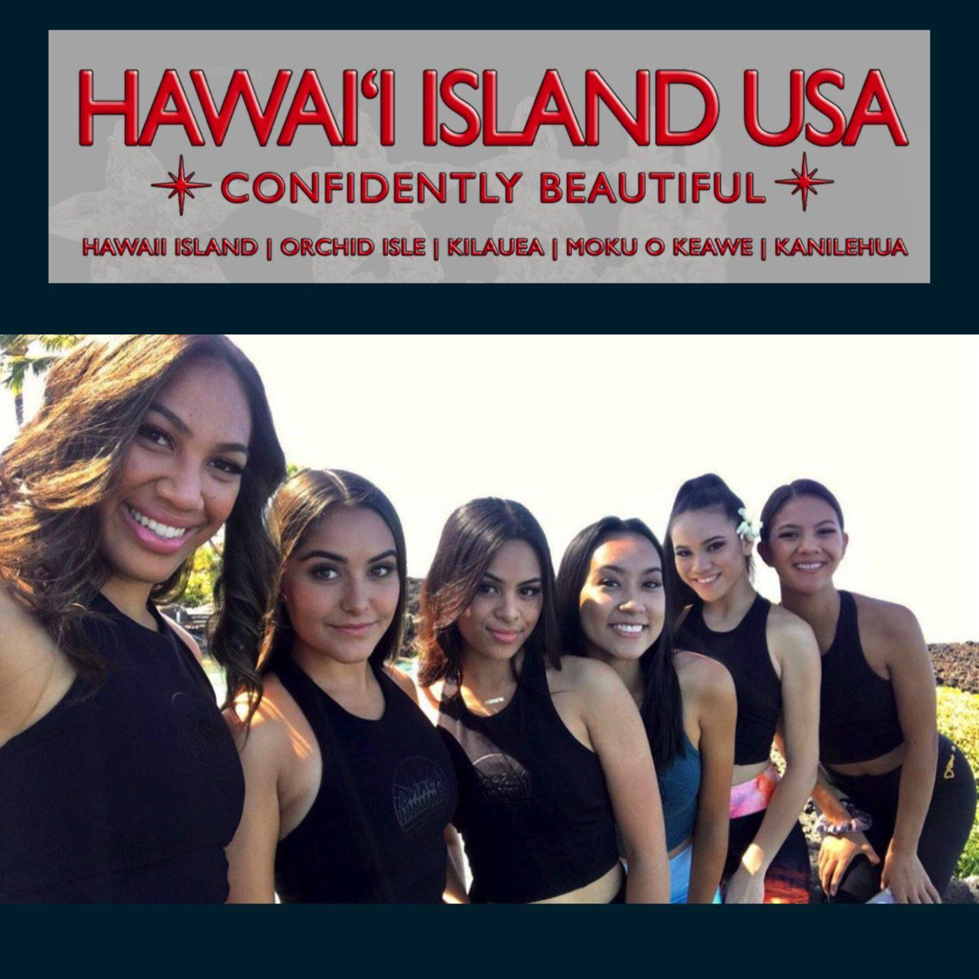 Miss Hawaii Island USA 2020 Contestants wearing Asana Hawaii