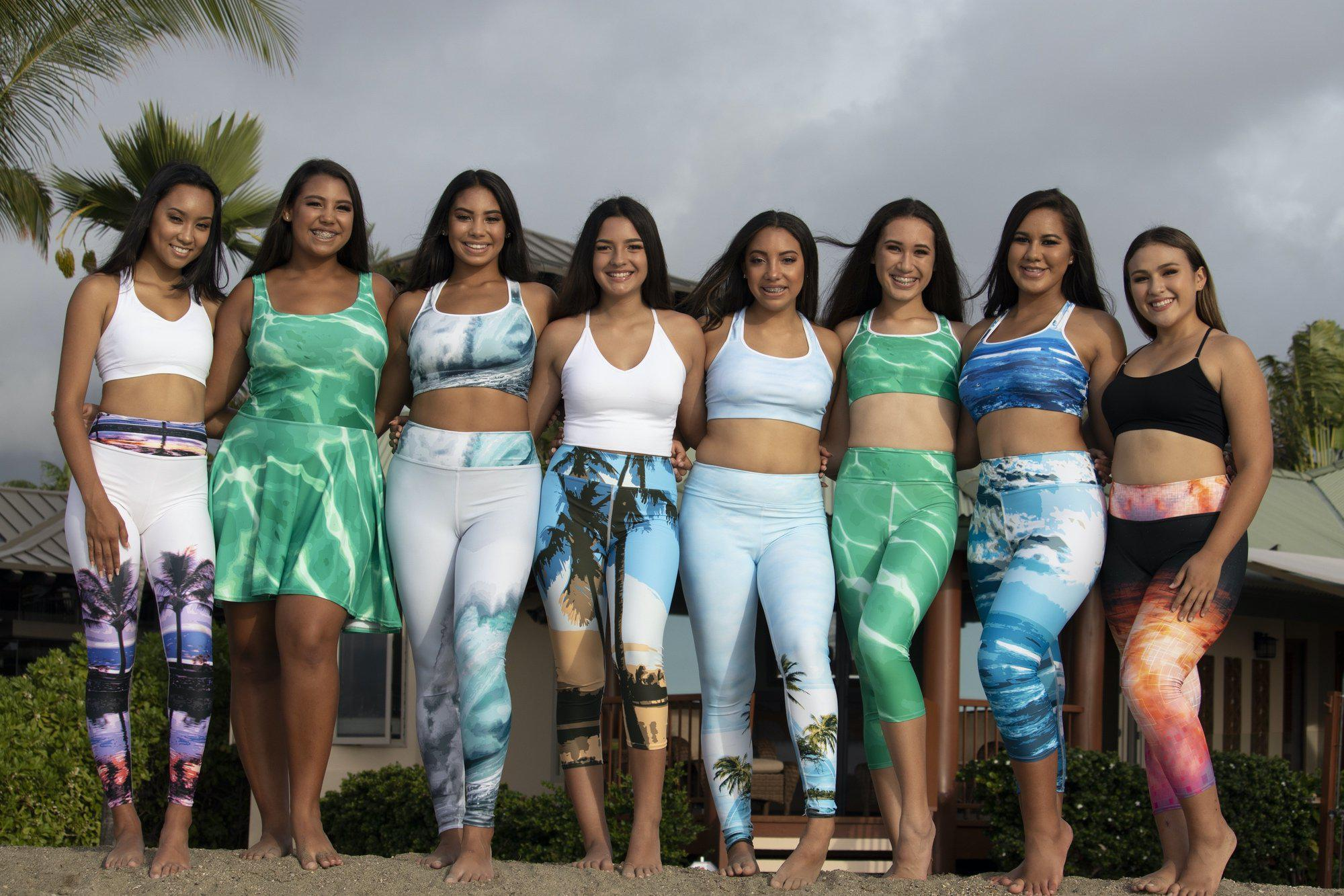 Miss Teen Hawai'i Island USA Contestants wearing Asana Hawaii