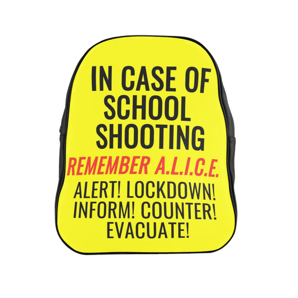 Survive School Shooting Backpack, By autohoax.com