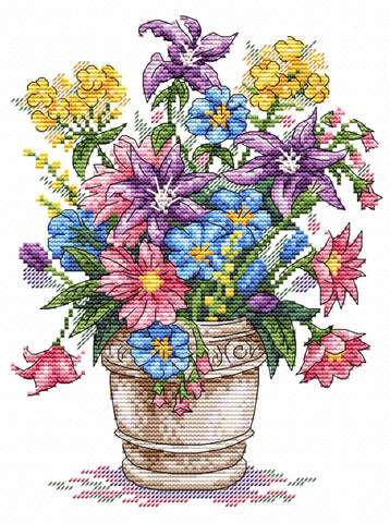 MP Studia Cross Stitch Kit - Bouquet of Inspiration