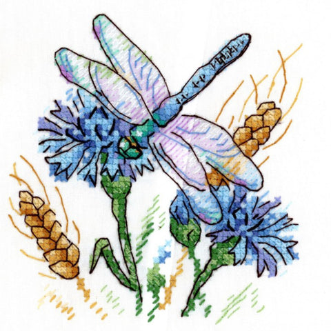 MP Studia Cross Stitch on Water Soluble Canvas - Cornflower Aroma