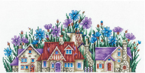 Andriana Cross Stitch Kit - Country of Cornflowers
