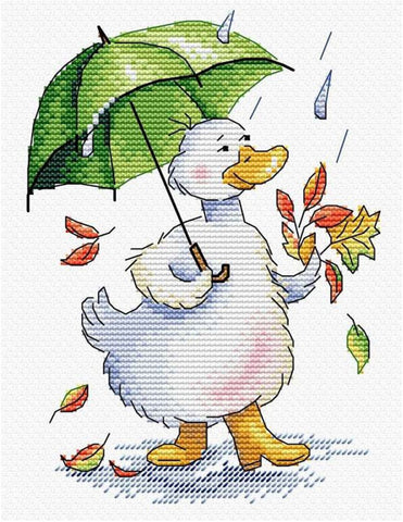 MP Studia Cross Stitch Kit - Rainy Promenade