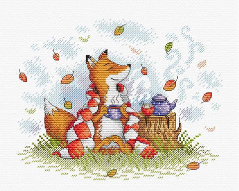 MP Studia Cross Stitch Kit - Autumn Tea