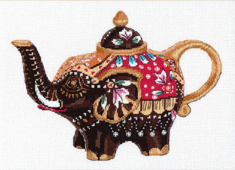 Oven Cross Stitch Kit - Tea Elephant