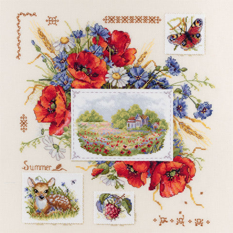 Merejka Cross Stitch Kit - Summer Sampler