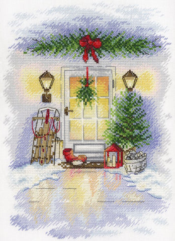 MP Studia Cross Stitch Kit - New Year Door