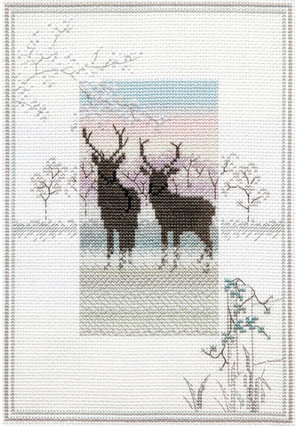 Derwentwater Designs Cross Stitch Kit - Frosty Deer