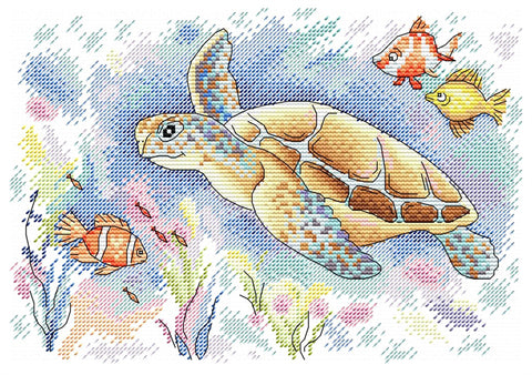 MP Studia Cross Stitch Kit - Ocean Colours