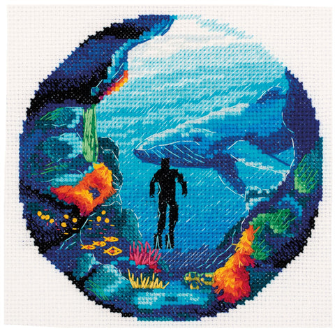Panna Cross Stitch Kit - Diving
