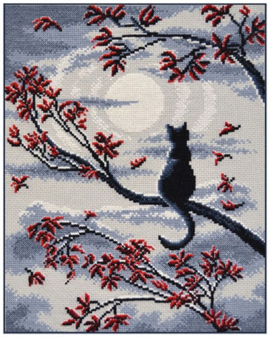 Oven Cross Stitch Kit - Moon Cat