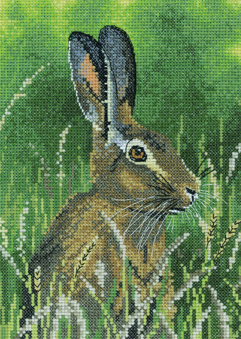 Heritage Crafts Cross Stitch Kit - Hare (Aida)