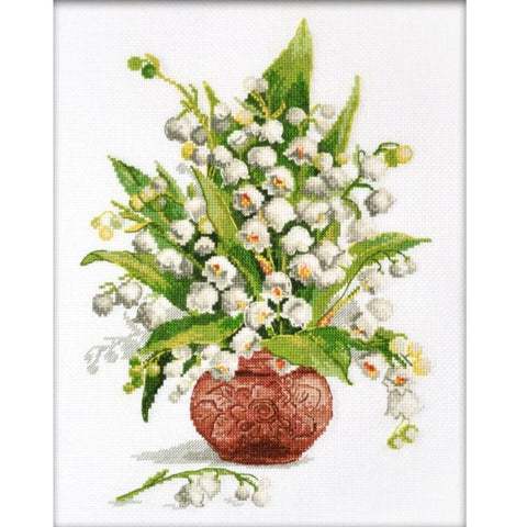 Oven Cross Stitch Kit - Lily of the Valley Forest Pearls