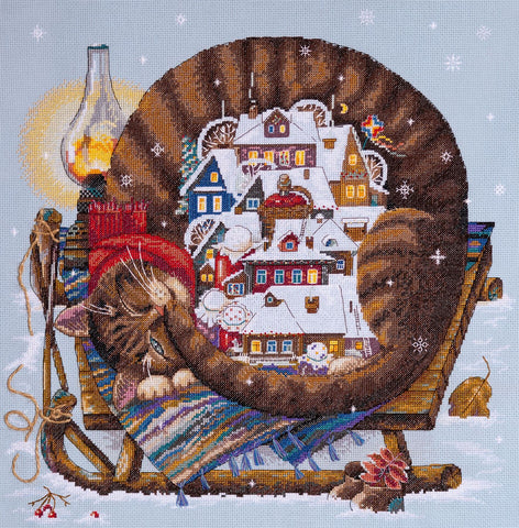 Merejka Cross Stitch Kit - Cozy Winter