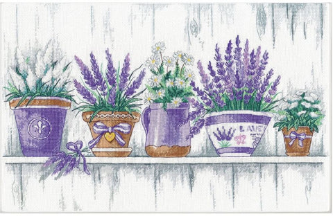Oven Cross Stitch Kit - Lavender Tenderness