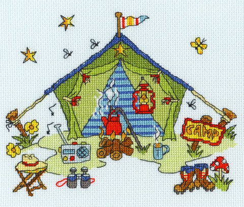 Bothy Threads Cross Stitch Kit - Sew Dinky Tent