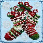 VDV Bead Embroidery Kit - Christmas Boots