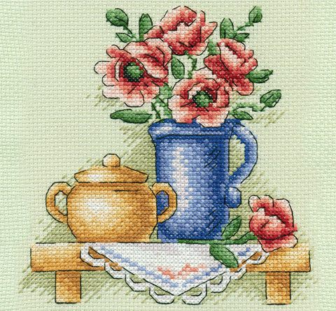 Panna Cross Stitch Kit - Flowers in a Jug