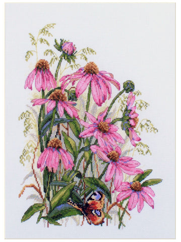 Merejka Cross Stitch Kit - Cone Flowers