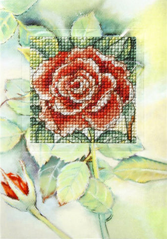 Orchidea Cross Stitch Card Kit - Rose