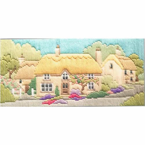 Derwenwater Designs Lanes Long Stitch Kit - Rose Lane