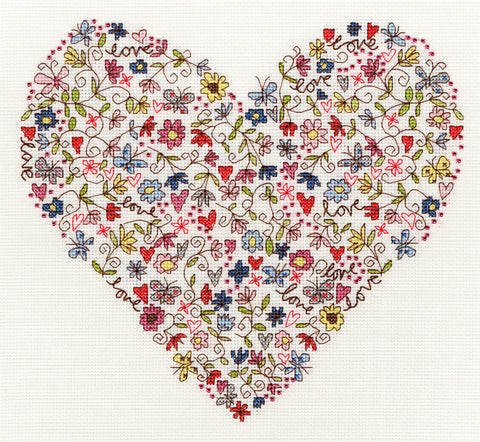 Bothy Threads Cross Stitch Kit - Love Heart