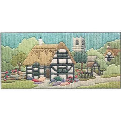 Derwenwater Designs Lanes Long Stitch Kit - Church Lane