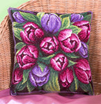 Panna Cross Stitch Cushion Front Kit : Tulip