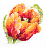 Magic Needle Cross Stitch Kit - Red Tulip