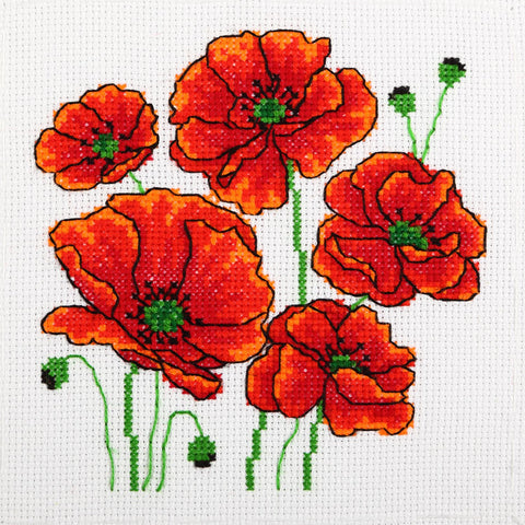 VDV Cross Stitch Kit - Poppies