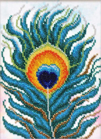 VDV Bead Embroidery Kit - Feather