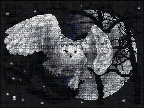 Panna Cross Stitch Kit : White Owl