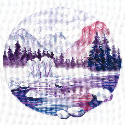Oven Cross Stitch Kit - Purple Dreams