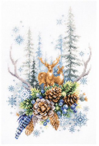 Magic Needle Cross Stitch Kit - Winter Forest Spirit