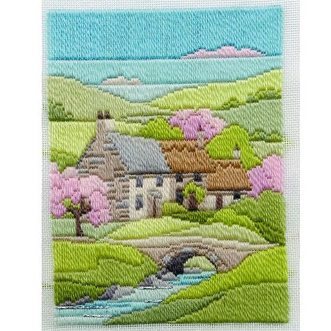 Derwentwater Designs Long Stitch Kit - Spring Cottage