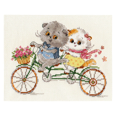 Alisa Cross Stitch Kit - It's A Happy Day