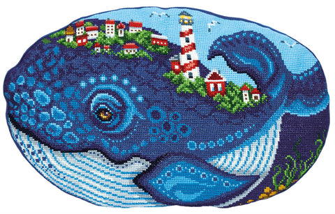 Panna Cross Stitch Cushion Front Kit - Whale