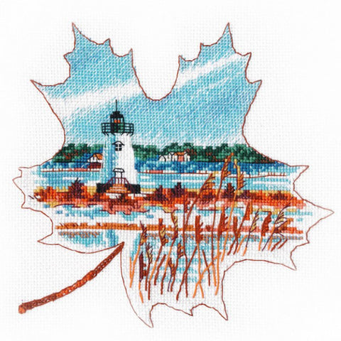 Oven Cross Stitch Kit - Edgartown Light