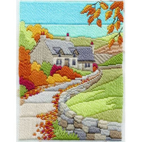 Derwentwater Designs Long Stitch Kit - Autumn Cottage
