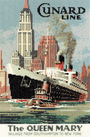 Heritage Crafts Cross Stitch Kit - Queen Mary (Aida)