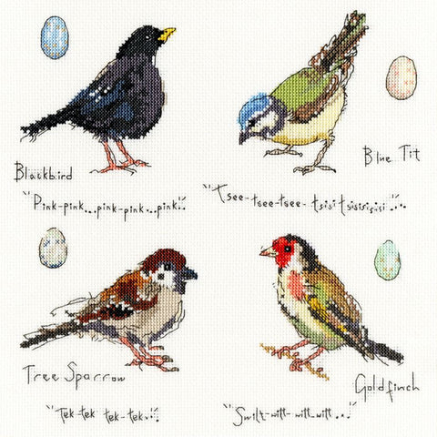 Bothy Threads Cross Stitch Kit - Garden Birds 2
