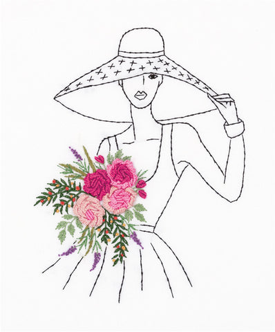 Panna Embroidery Stumpwork Kit - Lady In A Hat