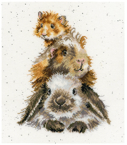Bothy Threads Cross Stitch Kit - Piggy In The Middle