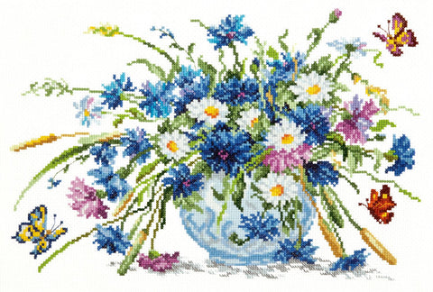 Magic Needle Cross Stitch - Cornflowers
