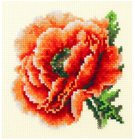 Magic Needle Cross Stitch Kit - Poppy