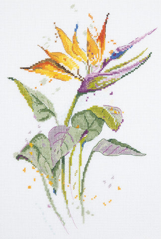 Panna Cross Stitch Kit : Bird of Paradise Flower